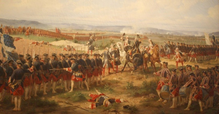 Henri Félix Emmanuel Philippoteaux – 'The Battle of Fontenoy, 1745: The French and the Allies Confronting Each Other'